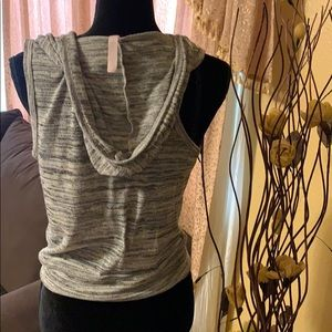 Sweaters - Super cute sleeveless cardigan with a hoodie!